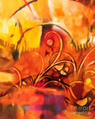 Warm Colors Painting - New World Symphony by Lutz Baar