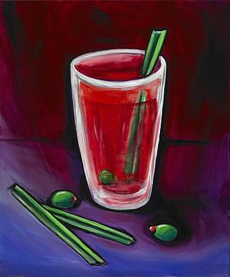 Bloody Mary Painting - New Year by David Junod