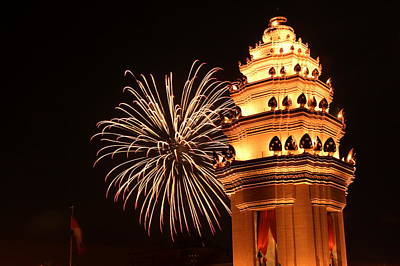 Cambodia Photograph - New Year In Phnom Penh by Nabil Kannan