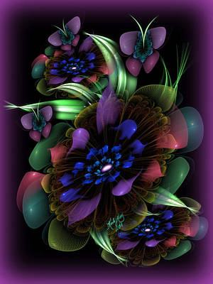 New Year's Bouquet Art Print by Karla White