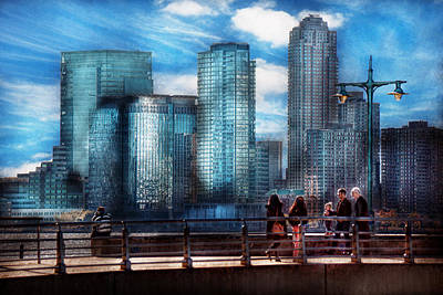 Greenwich Village Photograph - New York - City - Hudson River Park - Downtown by Mike Savad
