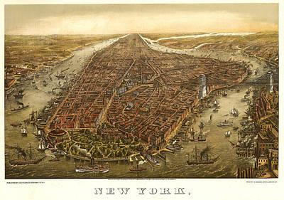 New York 1873 Art Print by Donna Leach