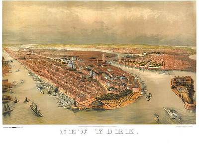 New York 1874 Print by Donna Leach