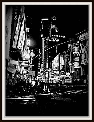 Photograph - New York At Night-1 by Anand Swaroop Manchiraju