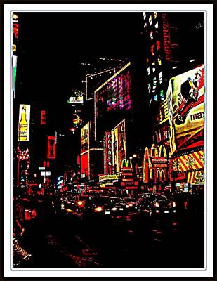Photograph - New York At Night-3 by Anand Swaroop Manchiraju