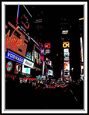 Photograph - New York At Night-4 by Anand Swaroop Manchiraju