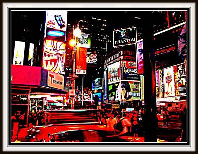 Photograph - New York At Night--7 by Anand Swaroop Manchiraju