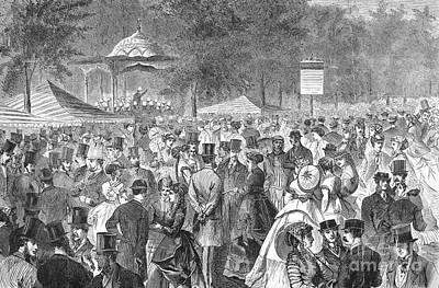 New York: Bandstand, 1869 Art Print by Granger
