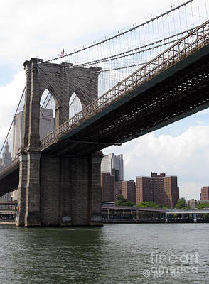 Photograph - New York Bridges 1- Brooklyn Bridge by Ausra Huntington nee Paulauskaite
