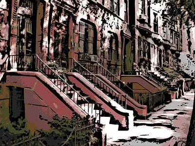 Photograph - New York Brownstones by George Pedro