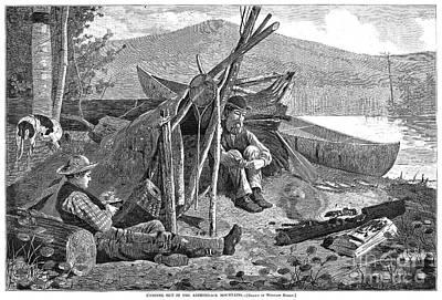 New York: Camping, 1874 Art Print by Granger
