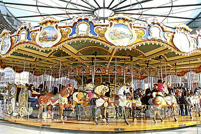 Photograph - New York Carousel by Alice Gipson