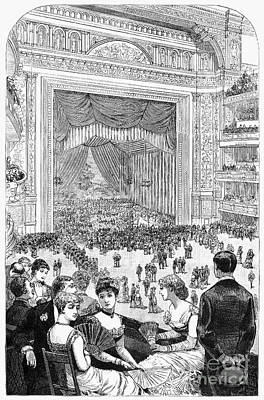 New York Charity Ball, 1884 Art Print by Granger