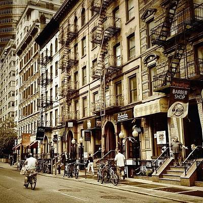 Cycling Wall Art - Photograph - New York City - Back In Time by Vivienne Gucwa