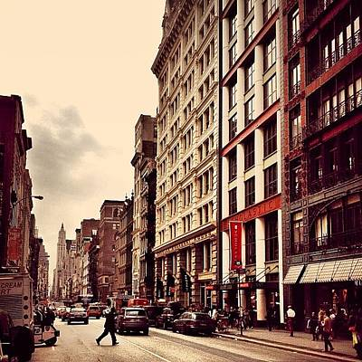 New York City Photograph - New York City - Cloudy Day On Broadway by Vivienne Gucwa