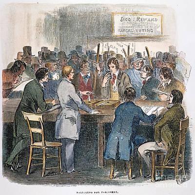 Ballot Wall Art - Photograph - New York City: Ballot, 1844 by Granger