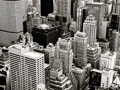 New York City From Above Art Print by Vivienne Gucwa