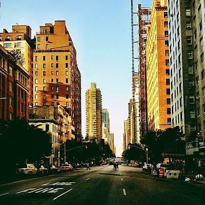 Golden Wall Art - Photograph - New York City Golden Sun by Vivienne Gucwa