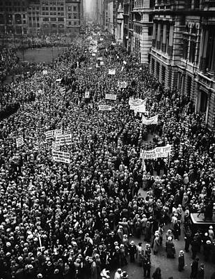 Ev-in Photograph - New York City, Hitler Protest Parade by Everett