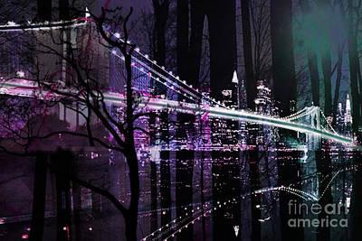 Brooklyn Bridge Mixed Media - New York City II by Christine Mayfield