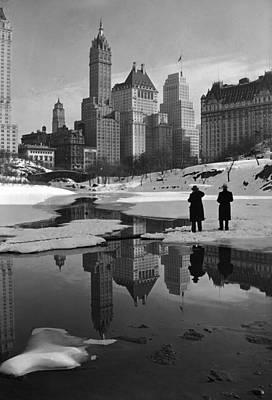 New York City, Plaza Buildings Art Print by Everett