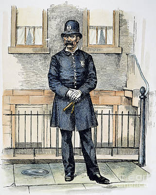 New York City Policeman Print by Granger