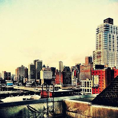 City Scenes Photograph - New York City Rooftops by Vivienne Gucwa