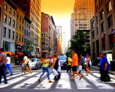 Photograph - New York City Rush by Ms Judi