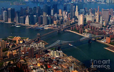 Nyc Mixed Media - New York City Sky View 2 by Ms Judi