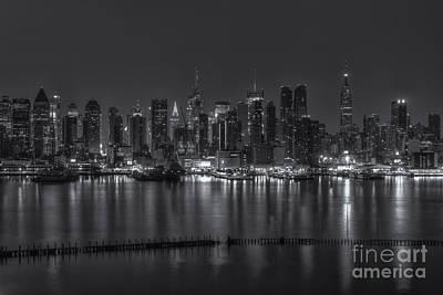 New York City Photograph - New York City Skyline Morning Twilight Xvi by Clarence Holmes