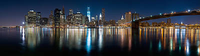 New York City Skyline Art Print by Shane Psaltis