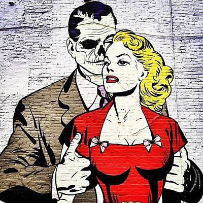 Pop Art Photograph - New York City Street Art - Love - Zombie Style by Vivienne Gucwa