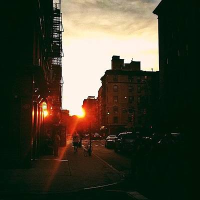 Cities Photograph - New York City Sunset by Vivienne Gucwa