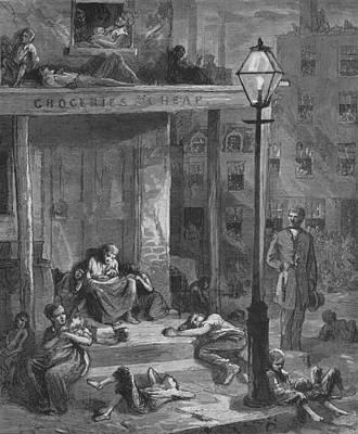 New York City Tenement Dwellers Art Print by Everett