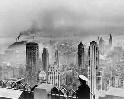 New York City Under Smog When Weather Art Print