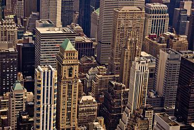 New York City Skyline Photograph - New York City Urban Landscape by Vivienne Gucwa