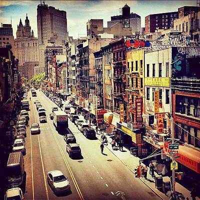 Landscape Photograph - New York City's Chinatown by Vivienne Gucwa