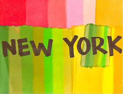 Nyc Mixed Media - New York Colour by Justin Farmer