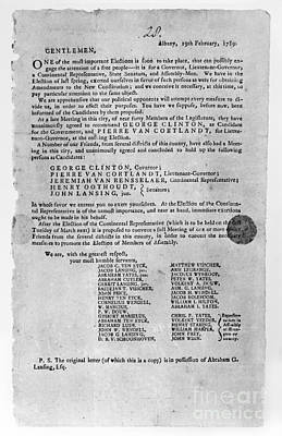 Photograph - New York: Election, 1789 by Granger
