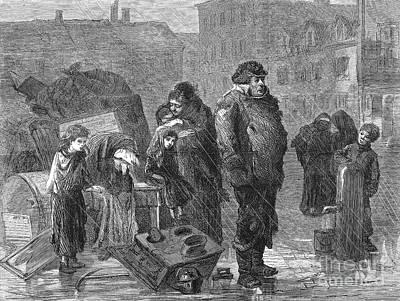 New York: Eviction, 1872 Art Print