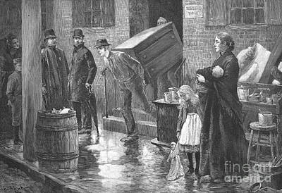 Eviction Photograph - New York: Eviction, 1890 by Granger