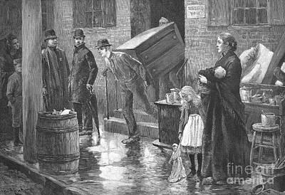 New York: Eviction, 1890 Art Print