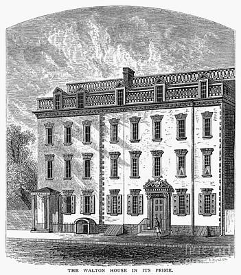 1757 Photograph - New York: Mansion, 1757 by Granger