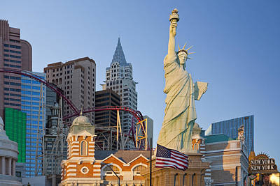 Copying Photograph - New York New York Hotel And Casino Las by Bryan Mullennix