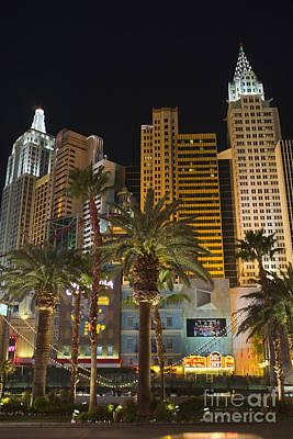 Las Vegas Photograph - New York New York Hotel Las Vegas At Night by Andre Babiak