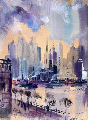 New York Art Print by Odon Czintos