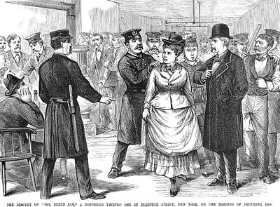 New York Police Raid, 1875 Art Print by Granger