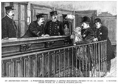 New York: Police Station Art Print by Granger