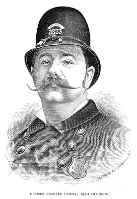 New York Policeman, 1885 Art Print by Granger