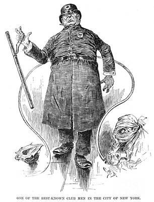 New York Policeman, 1890 Art Print by Granger